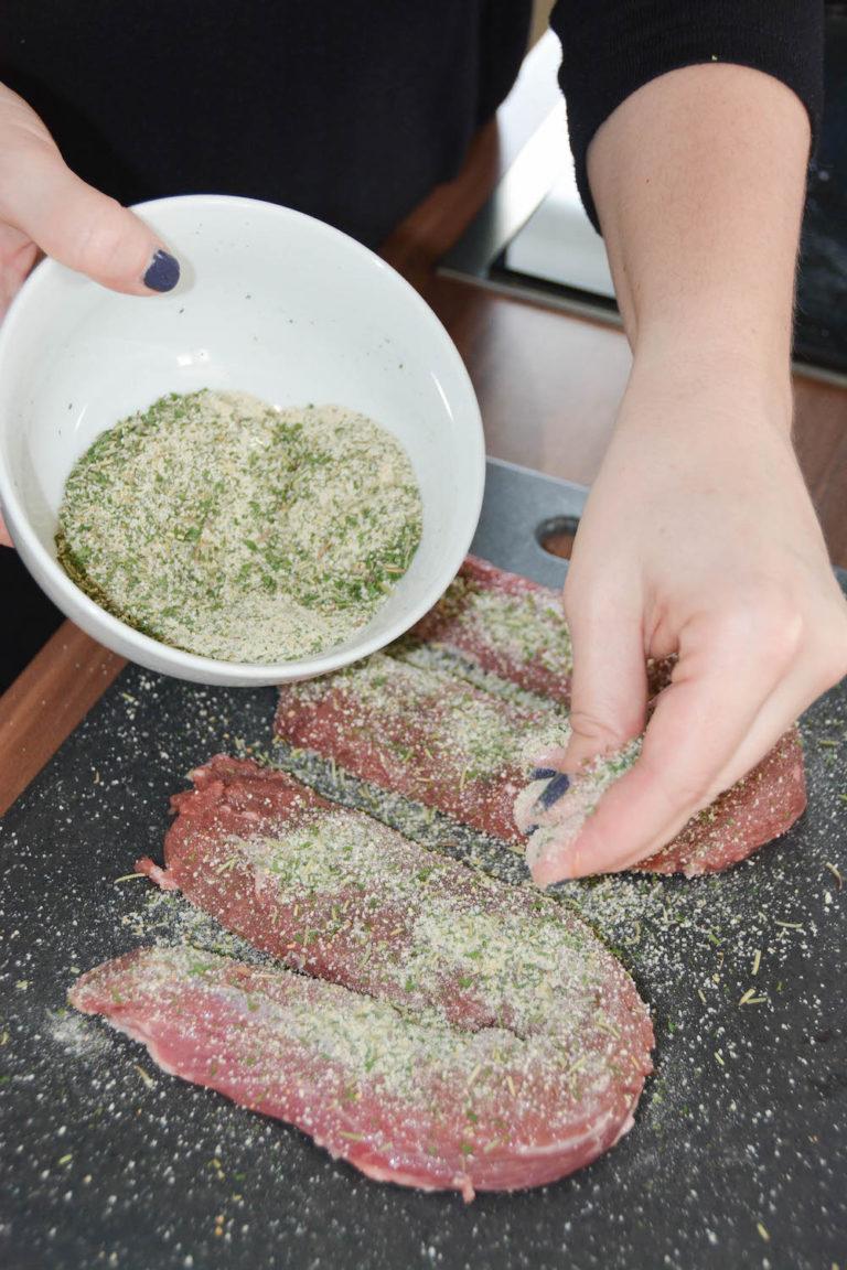 Geräucherte Lammlachse in Kräuterkruste - lammlachse vom grill 5 - 15