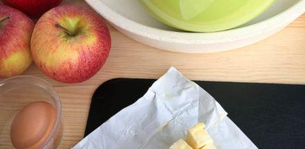 Zutaten für frischen Apfelkuchen