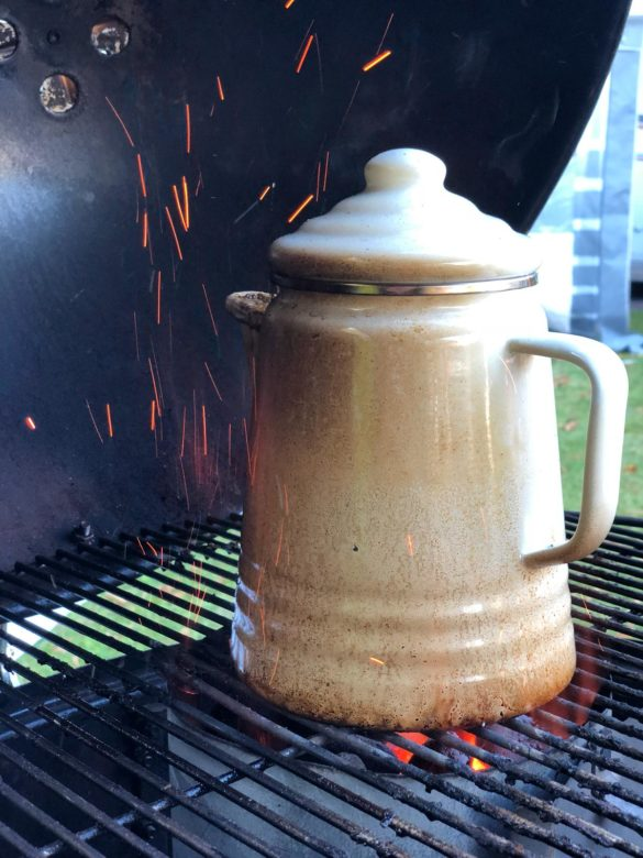 Kaffee vom grill
