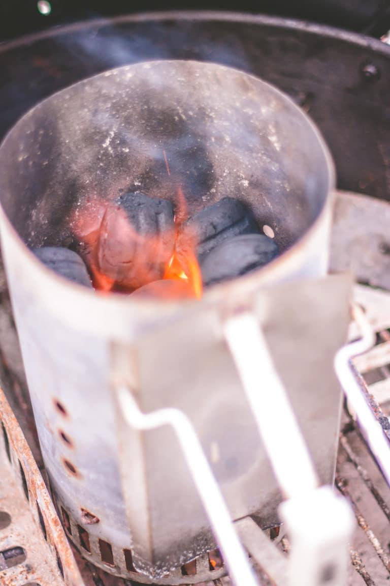Gebrannte Mandeln mit Zimt vom Grill / Dutch Oven - grillbriketts anzuenden 02 - 10