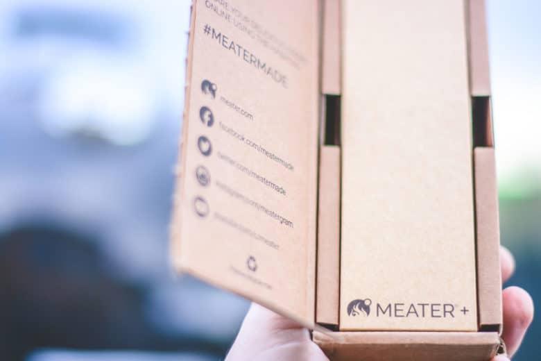 MEATER+ Holzblock in der original Versandverpackung