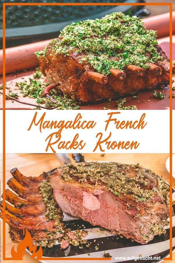 Mangalitza Racks im Kräutermantel vom Keramikgrill - Mangalica french racks kronen - 20