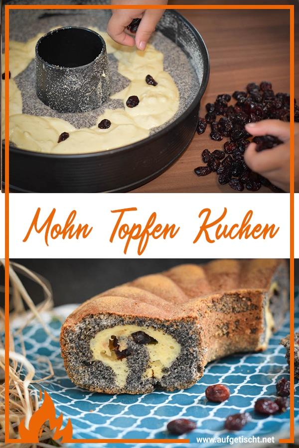 Mohn-Topfen Kuchen mit fruchtiger Füllung - mohn topfen kuchen - 10
