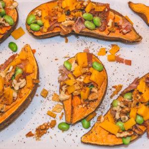 Süßkartoffel Türmchen - ein geniales Beilagenrezept - überbackene süßkartoffel 5 - 18