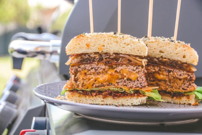Bacon Jam - die crunchy Speckmarmelade mit Whisky - burger kartoffelbuns 009 - 8