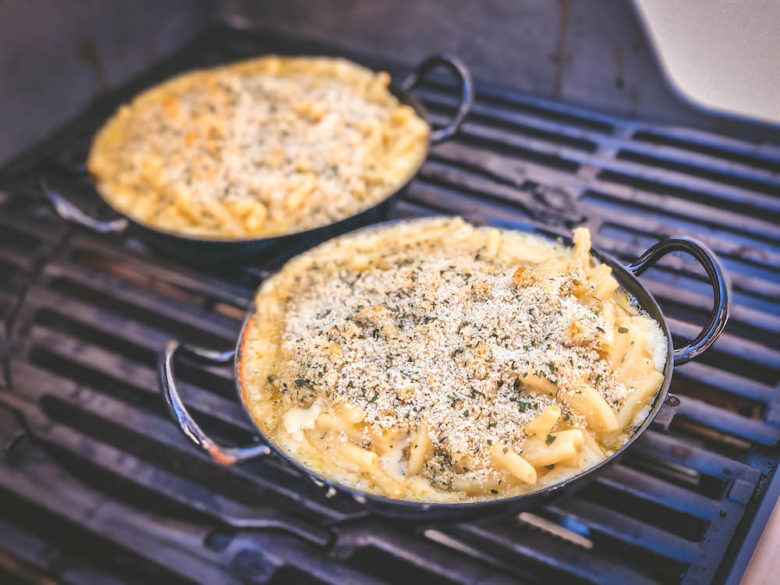 Leckere Mac n Cheese vom Grill