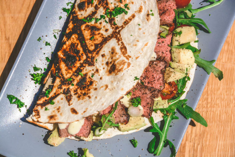 Rumpsteak Wrap mit Avocadocreme - rumpsteak texaslonghorn wrap 005 - 26