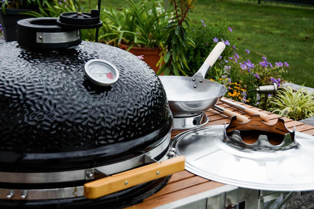 Wok vom Grill - lecker, leicht & abwechslungsreich unsere Asiapfanne - wok am keramikgrill 009 - 7