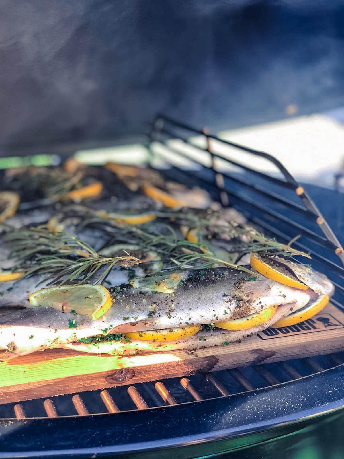 Fisch grillen am Räucherbrett - es geht auch ganz ohne Alufolie  - entgegen der ganzen Grill-Mythen