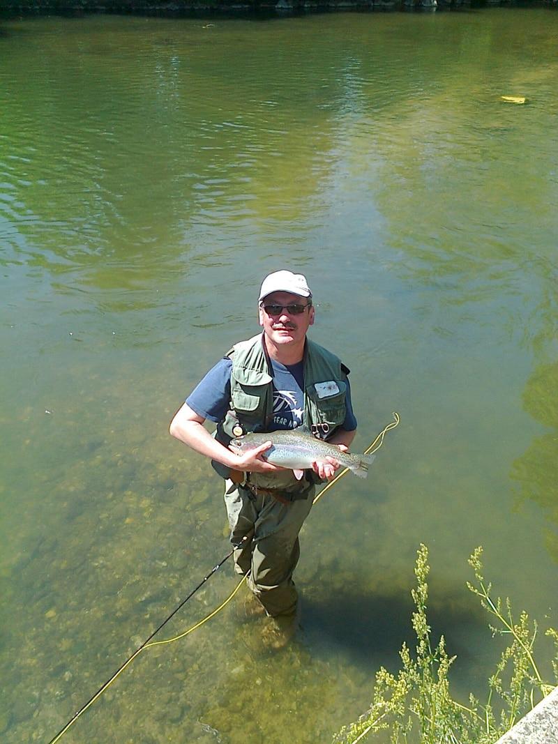 Regenbogenforelle beim Mattig angeln
