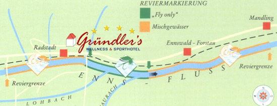 Enns Revier Gründlers bei Radstadt