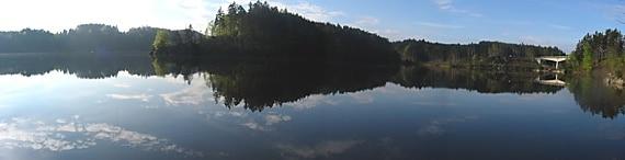 Fischen am Stausee Ottenstein / Dobra (Kamp)