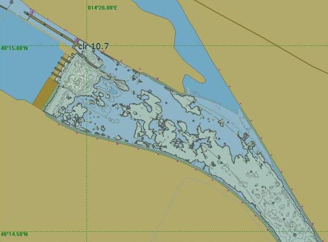 Tiefenkarte Donau Abwinden Asten und Mitterwasser