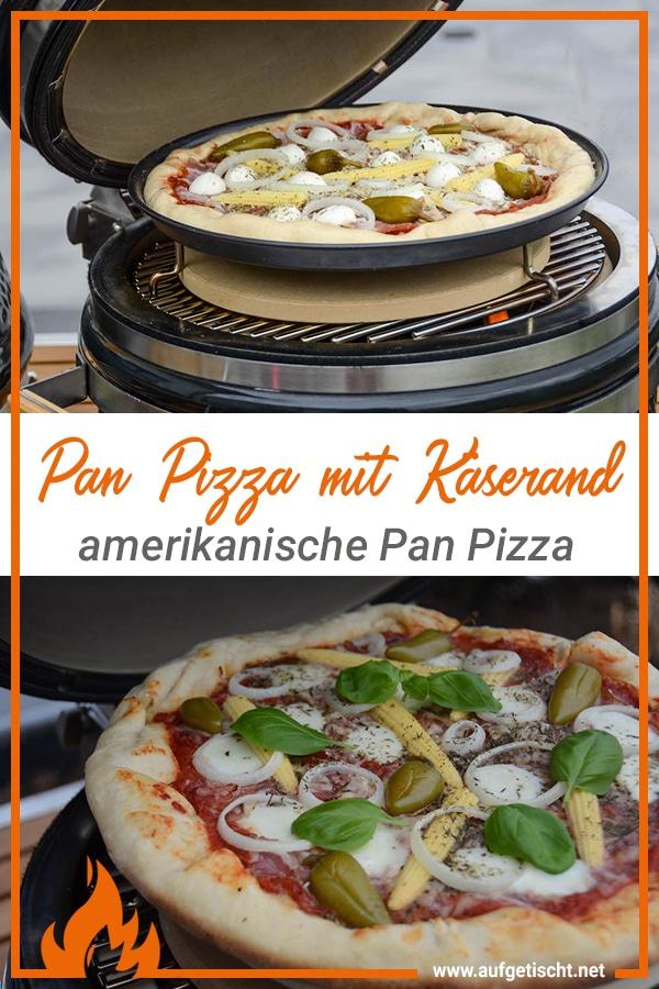 Amerikanische Pan Pizza mit Käserand - amerikanische pan pizza käserand - 13