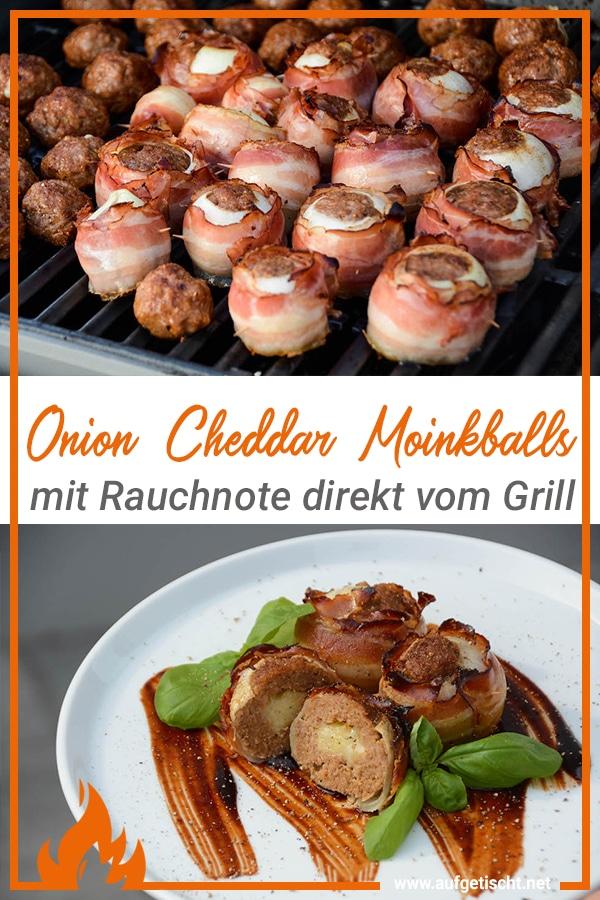Onion Cheddar Moinkballs auf Pinterest