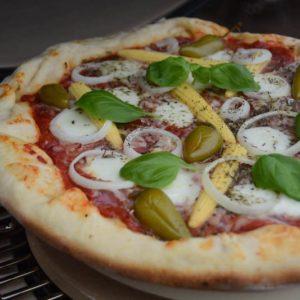 Pan Pizza mit Käserand aus dem Monolith Icon