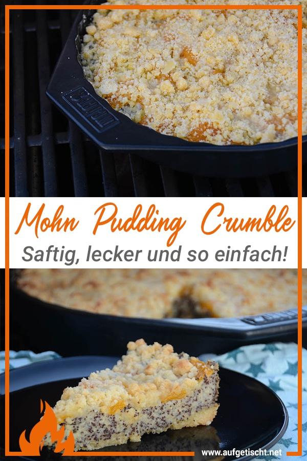Mohn Pudding Crumble Rezept auf Pinterest pinnen