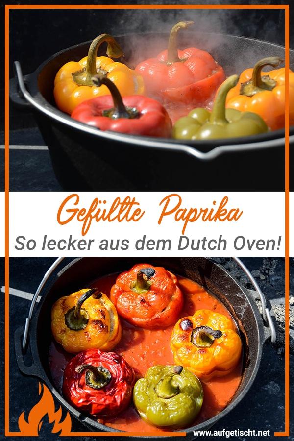 Gefüllte Paprika aus dem Dutch Oven auf Pinterest pinnen
