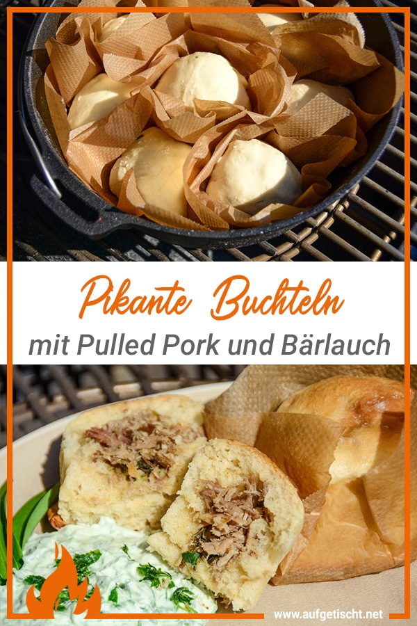 Pikante Buchteln mit Pulled Pork und Bärlauch auf Pinterest pinnen