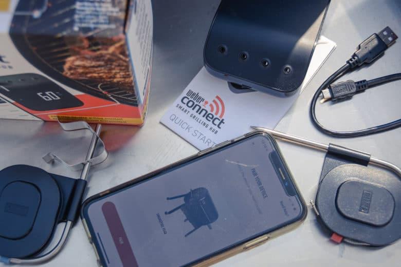 Eines der aktuellsten Grillthermometer - das Weber Connect Grilling Hub