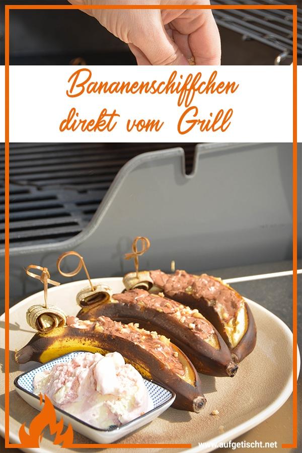 Bananenschiffchen vom Grill auf Pinterest pinnen