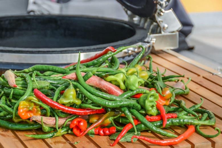 Chilis räuchern & trocknen im Smoker - chilis trocknen 02 - 2