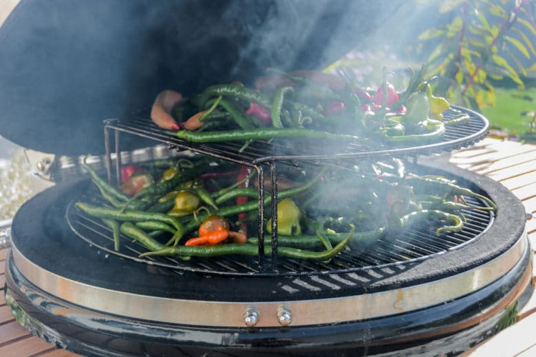 Chiliernte am Smoker trocknen und räuchern für leckeres Chilisalz - Top Herbstrezepte