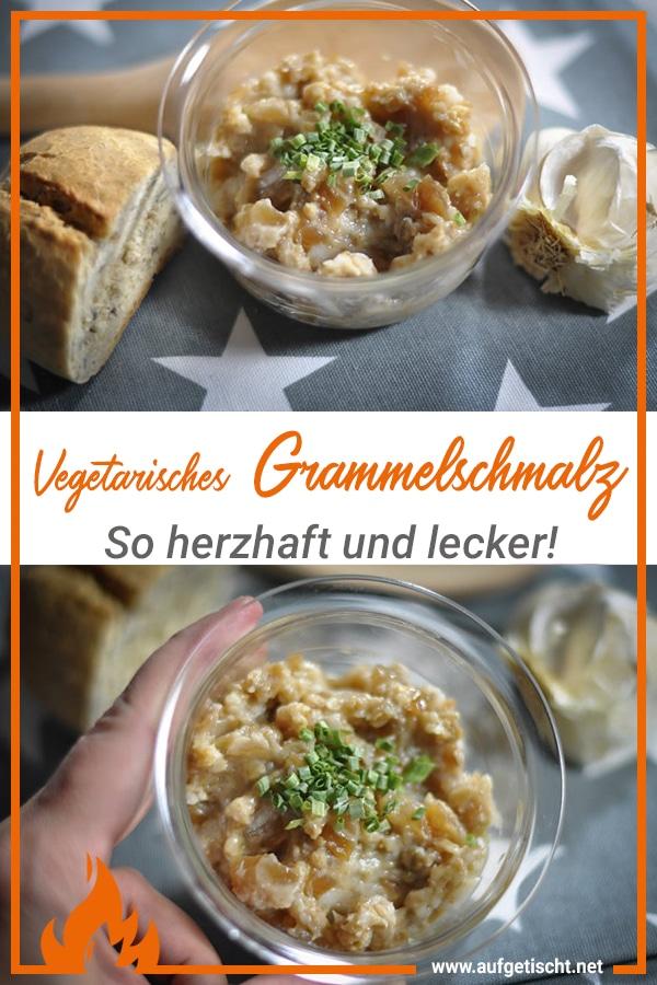 Vegetarisches Grammelschmalz selbstgemacht - ein herzhafter Aufstrich