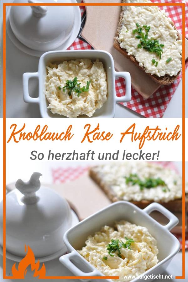 Knoblauch Käse Aufstrich - herzhaft lecker!