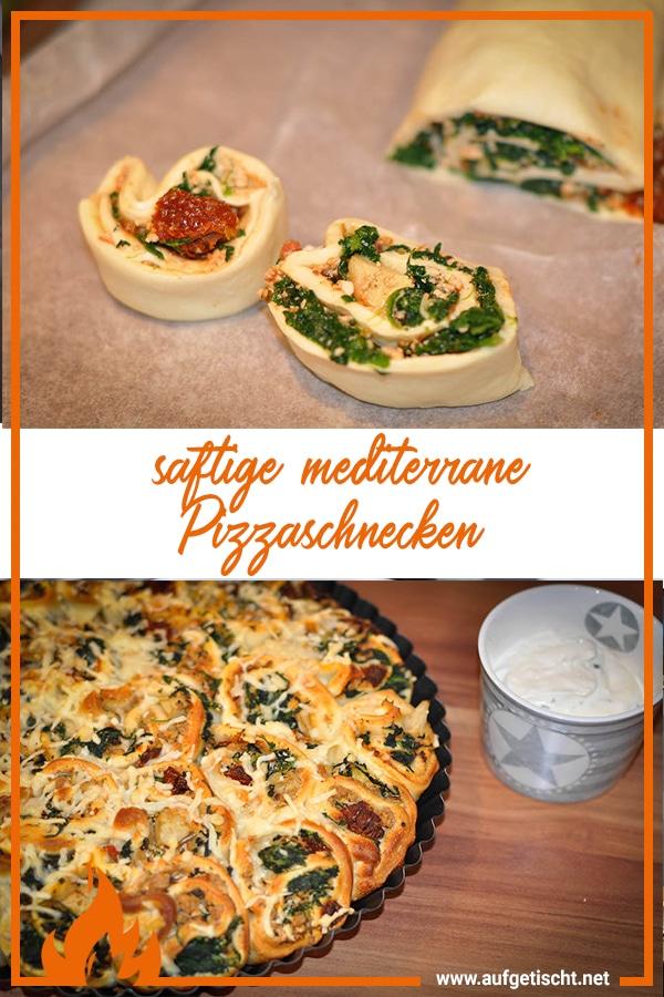 mediterrane Pizzaschnecken , Schnecken auf Pinterest pinnen