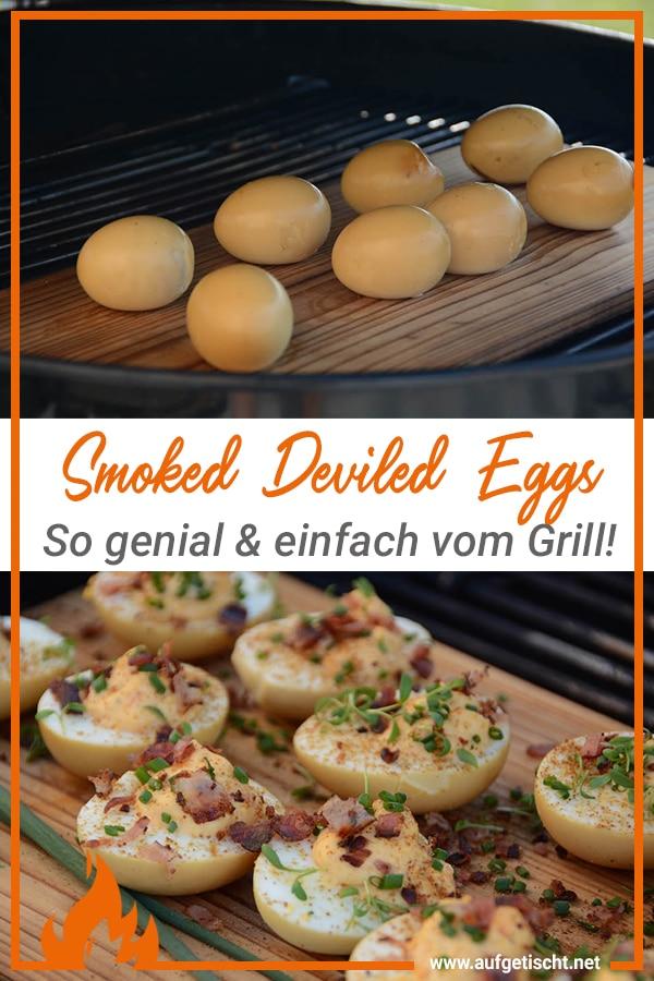Smoked Deviled Eggs / die bekannten Teufelseier auf Pinterest pinnen