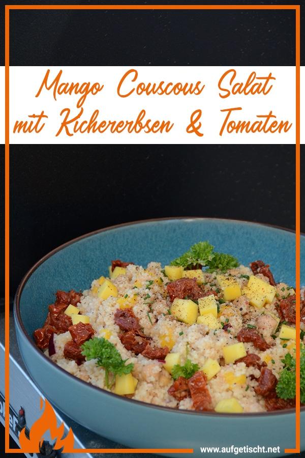 Mango Couscous Salat mit Kichererbsen