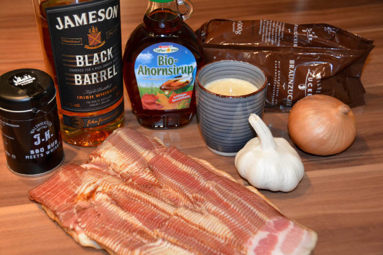Coffee Whisky Bacon Jam in der Zubereitung