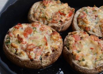 gefüllte Portobello Pilze vom Grill