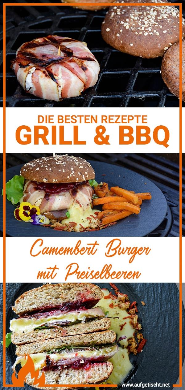 Camembert Burger Rezept vom Grill auf Pinterest pinnen