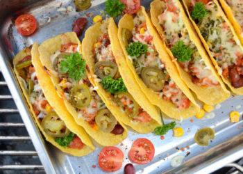 Tacos mit Chili con Carne vom Grill