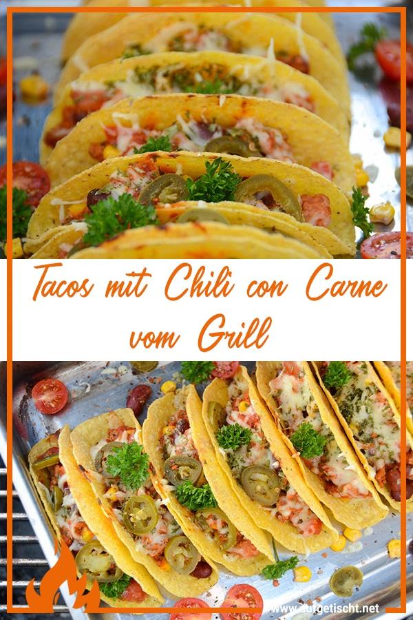 Tacos mit Chili con Carne vom Grill auf Pinterest pinnen