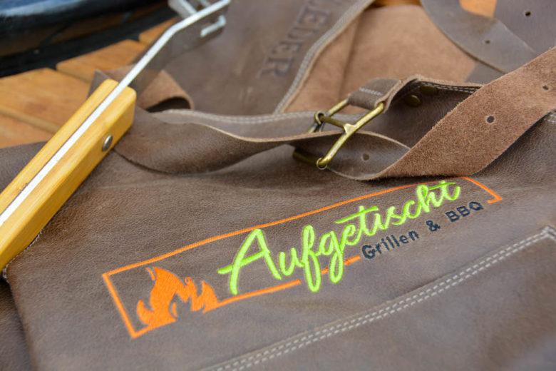 Individuelle personalisierte Lederschürzen / Grillschürzen