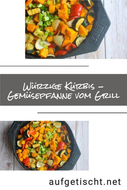 Würzige Kürbis Gemüsepfanne vom Grill