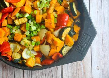 Kürbis Gemüsepfanne vom Grill