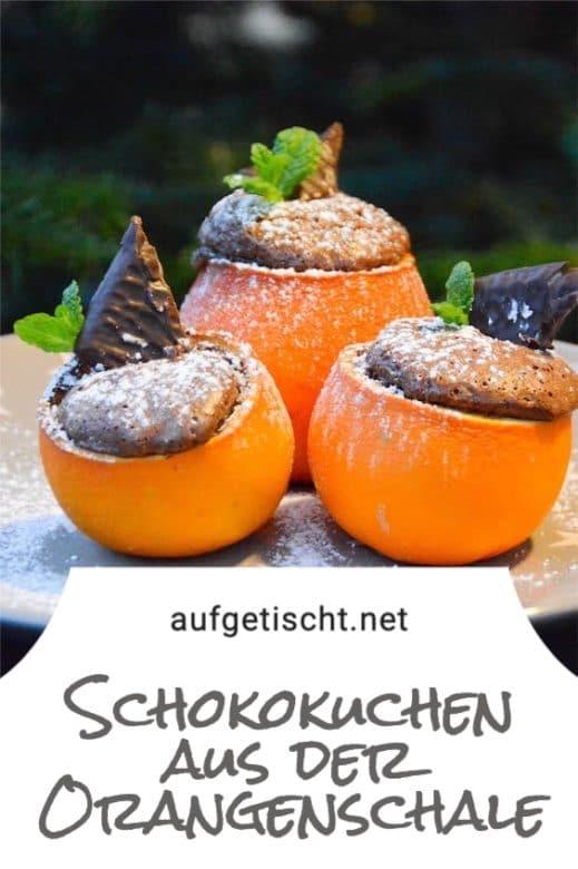 Schokokuchen aus der Orangenschale auf Pinterest pinnen