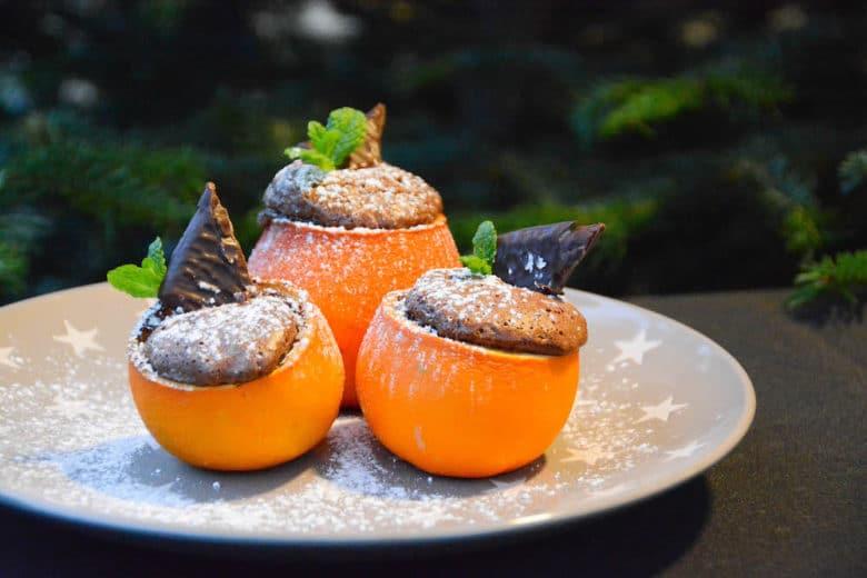 Schokokuchen aus der Orangenschale