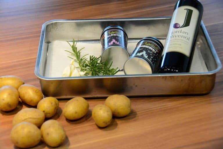 Zutaten für die Smashed Potatoes