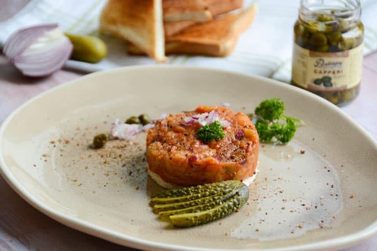 Vegetarisches Tatar vom Grill