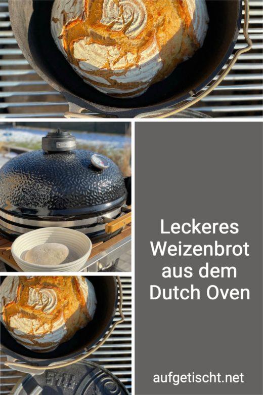 Leckeres Weizenbrot aus dem Dutch Oven - Brot Backen
