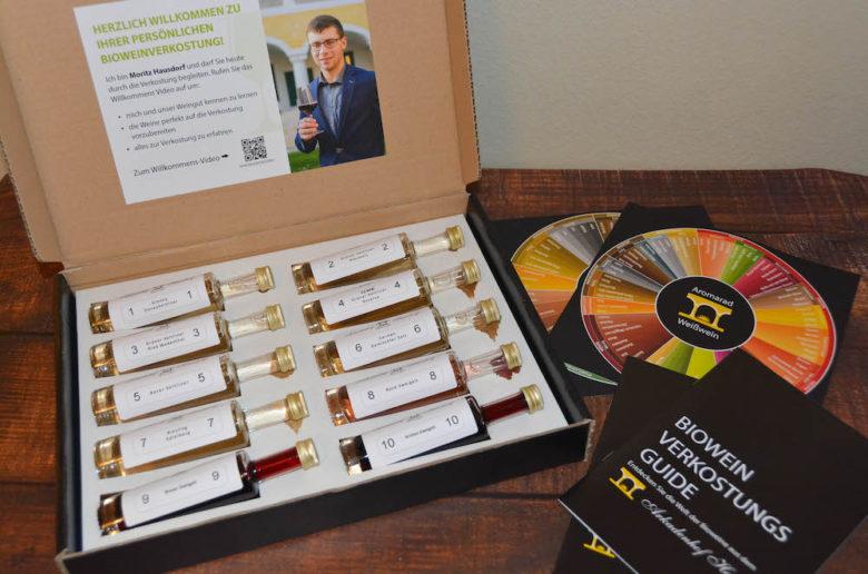 Bio Weinverkostung Set für Zuhause