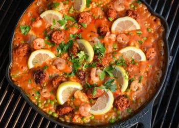 Spanische Paella Rezept aus dem Dutch Oven