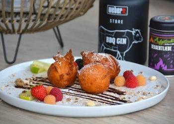 fruchtige Gin Topfenbällchen aus dem Dutch Oven